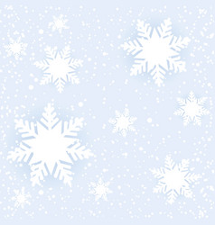 winter seamless blue pattern with snowflakes vector image