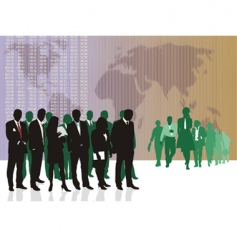 world business traders vector image vector image
