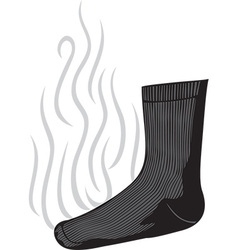 Stinky sock vector
