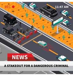Swat action isometric screenshot composition vector