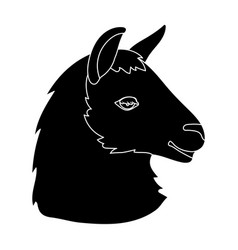 Lama icon in black style isolated on white vector