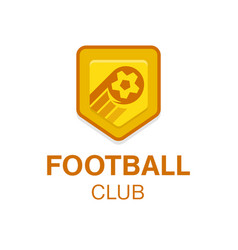 Soccer football badge logo in vector