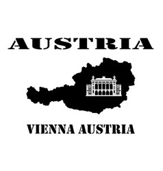 Symbol of austria and map vector