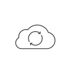 Cloud data synchronization vector