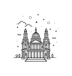 Cathedral icon outline vector