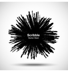 Scribble stain Hand drawn in pencil vector image