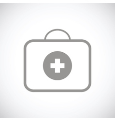 Medic bag black icon vector