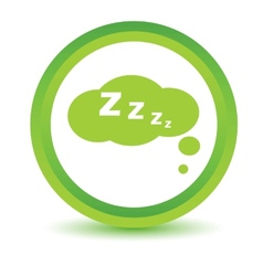 Green sleep icon vector
