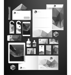 Abstract polygonal business set vector