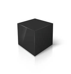 Black blank box isolated on white vector