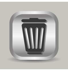Delete or trash can line icon vector