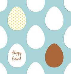 Sketch easter eggs pattern vector