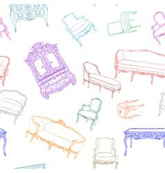 rococo furniture pattern vector image