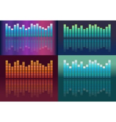 Set of music volume waves vector