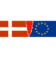 Politic relationship european union and denmark vector
