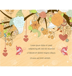 Butterflies with floral vector