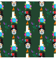 Colorful seamless pattern background dia de los vector