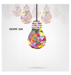 Creative light bulb background vector