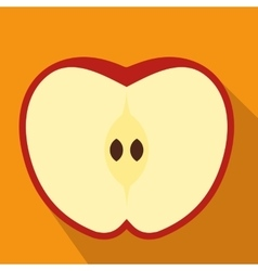 Cut apple flat icon vector image vector image
