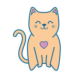 Cute kitty icon vector
