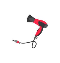 Flat hair dryer isolated vector