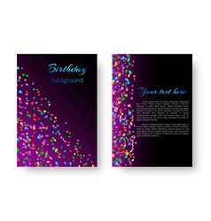 flyer design template with confetti vector image vector image