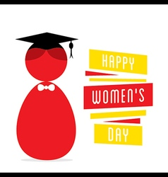 happy womens day women graduate design vector image vector image