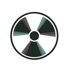 Radiation round sign colorful icon shaked vector
