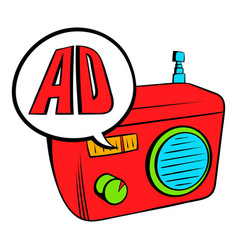 radio advertising icon cartoon vector image