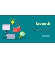 Research web banner website template vector
