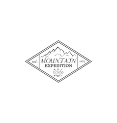 Summer mountain camp badge logo label and icon vector