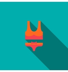 Swimsuit icon flat style vector image