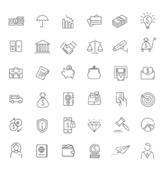 Thin line web icon set - money finance payments vector image vector image