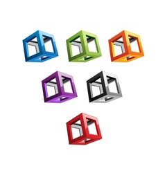 Varicoloured Cubes vector image