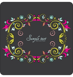 Vintage card design for greeting card vector
