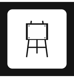 Easel icon in simple style vector