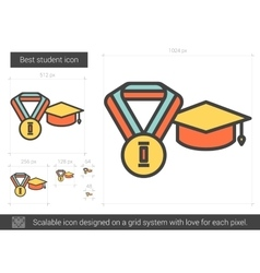 Best student line icon vector