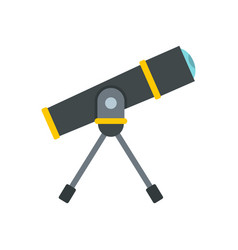 telescope icon flat style vector image