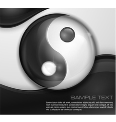 Yin yang symbol on white black vector