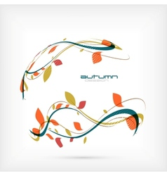 autumn flying leaves design vector image