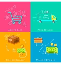 E commerce concept vector