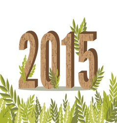 2015 leaves card vector
