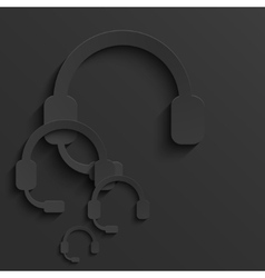 Modern headphones light background vector