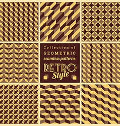 Set of seamless geometrical patternsvintage vector