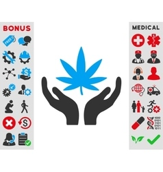 Cannabis care icon vector