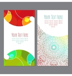 Business cardbusiness card with an ornament vector