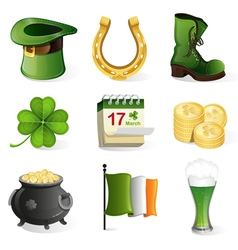 St patricks day holiday icons vector
