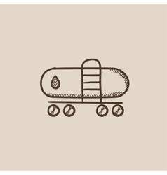 Oil tank sketch icon vector
