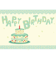 Cute birthday card vector