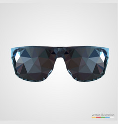Abstract black sunglasses vector